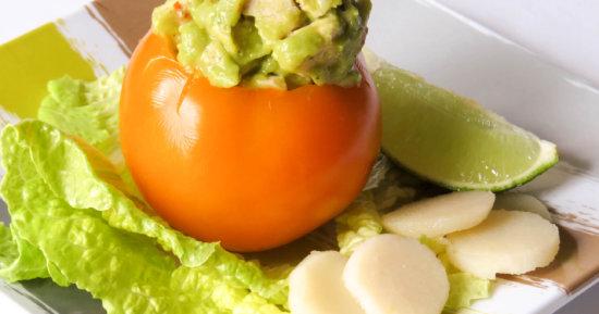 Avocado Chicken Salad Stuffed Tomato