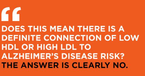 Cholesterol Leads to Alzheimer's? Nonsense.