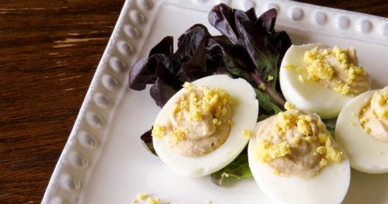 Hummus Stuffed Deviled Eggs