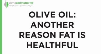 Olive Oil: Brain Food