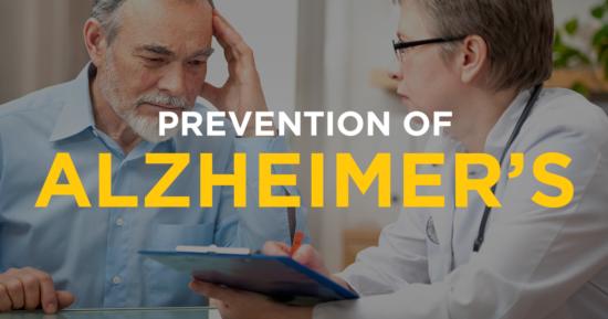 Prevention of Alzheimer's