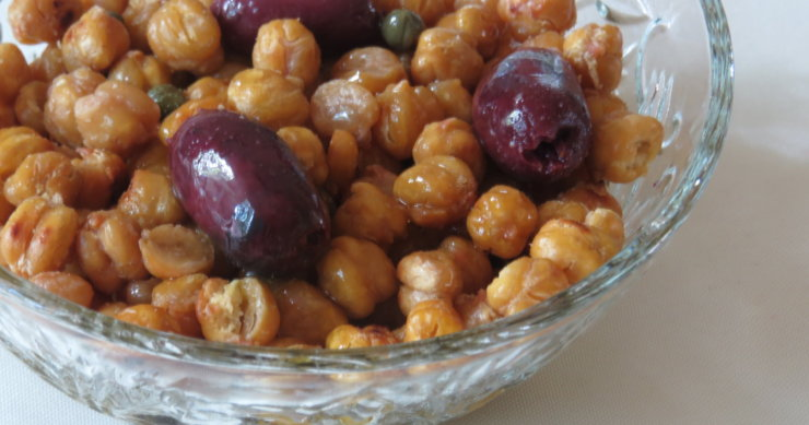 Roasted Chickpeas with Olives and Capers