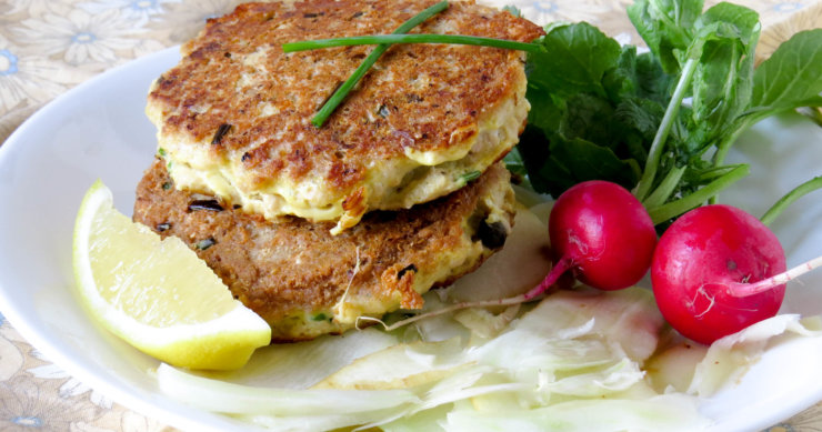Salmon Cakes with Fennel & Parsnips