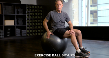 Exercise Ball Sit-Ups
