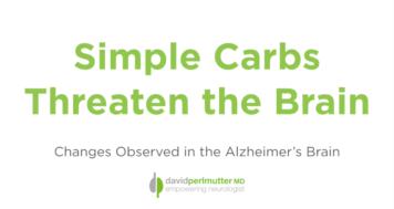 Simple Carbs Threaten the Brain