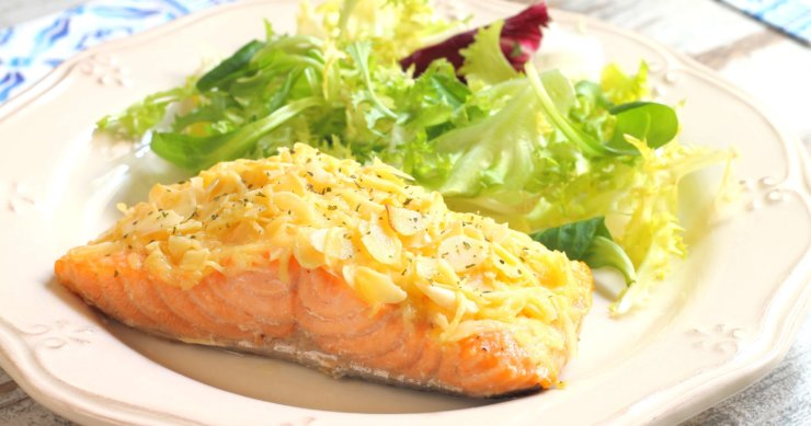 Salmon Roasted in Almonds and Butter